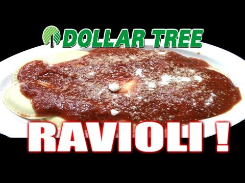 Dollar Tree $1.00 Italian Cheese Ravioli! - WHAT ARE WE EATING?? - The Wolfe Pit