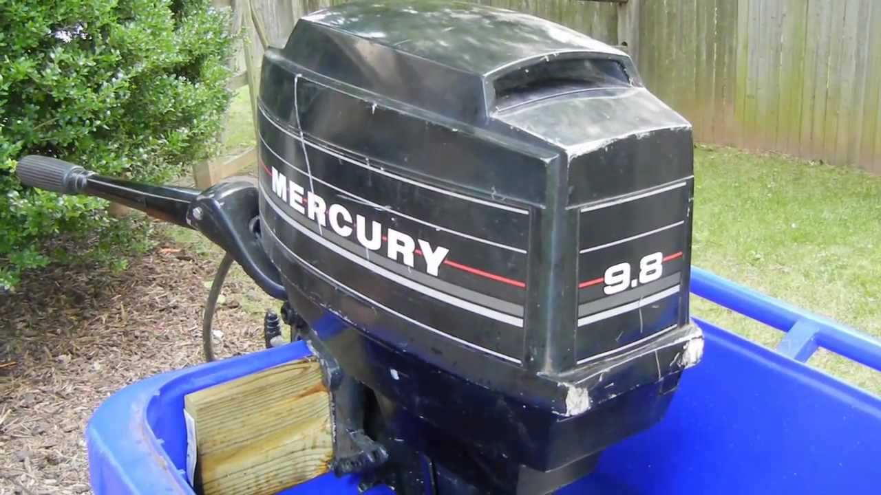 Mercury Outboard 9 8 Hp Youtube