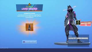 *NEW* CATALYST (OVERCHARGED) STYLE UNLOCKED in Fortnite Season X