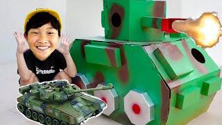 예준이의 탱크 조립놀이 색칠놀이 전동 자동차 놀이 Tank Toy for Kids Power Wheels