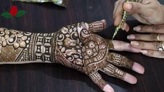 Beautiful latest  peacock bridal mehndi design   Full hand henna design