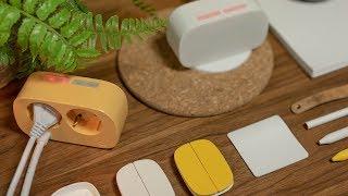 배터리 없는 신기한 무선 스위치와 디자인 멀티탭 [비스킷&버터] #커널로그