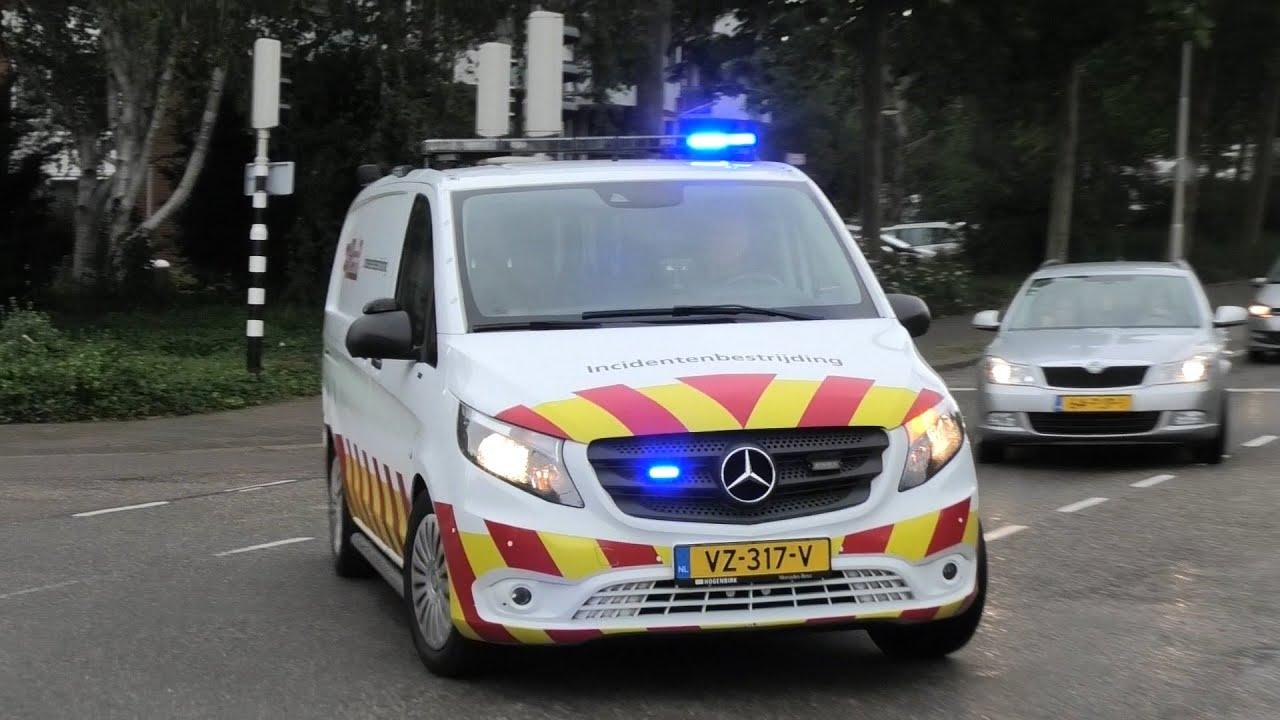 ProRail Incidentenbestrijding met spoed naar een ongeval op het spoor in Gorinchem
