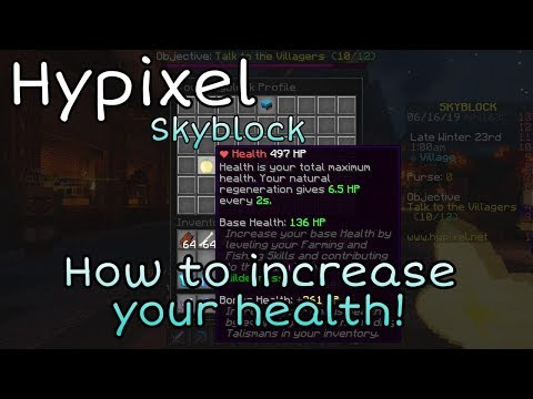 How To Increase Your Health | Hypixel Skyblock thumbnail