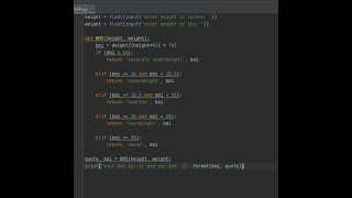 Python - BMI Calculator screenshot 2