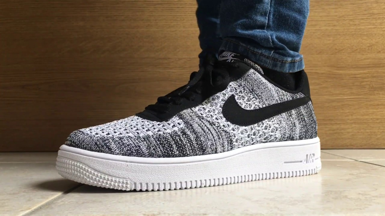 Asado Honorable para agregar  New Nike Air Force 1 Flyknit 2.0 (Unboxing+ on feet) - YouTube