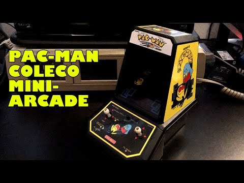 Playing Coleco Pac Man Mini Arcade Tabletop Video Game Let's Play