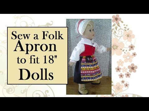 Sew an Apron for 18 inch Dolls (With Free Pattern) - YouTube