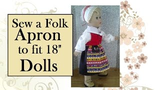 Sew an Apron for 18 inch Dolls (With Free Pattern)