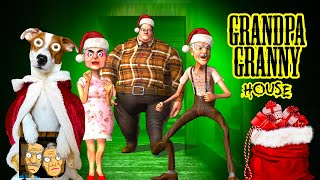 🎁Grandpa And Granny House Escape 🎄Merry Christmas 🎁GamePlay [heavy mode]