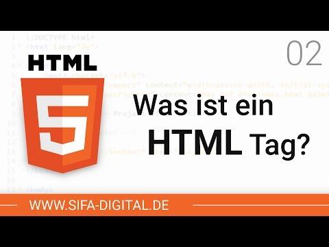 HTML Grundkurs: Was Ist Ein HTML Tag? #02 (4K) | SIFA Digital