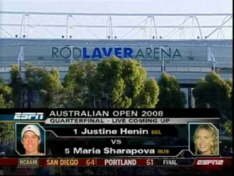 Australian Open 2008 tennis  intro Sharapova - Henin