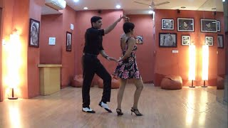Salsa Beginners Move No. 13: many a hook, between the flick and the tuck