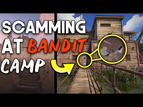 SCAMMING AT BANDIT CAMP - RUST