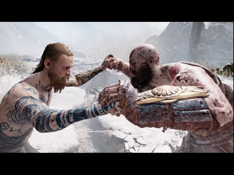 God Of War - Kratos vs Baldur - first faceoff