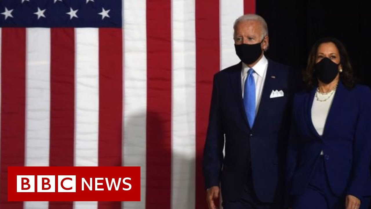 Joe Biden and Kamala Harris blast 'whining' Trump - BBC News