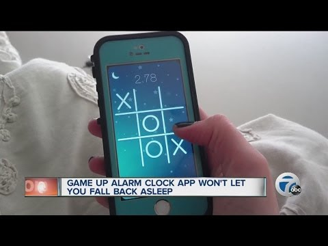 Game Up Alarm Clock app wont let you fall asleep
