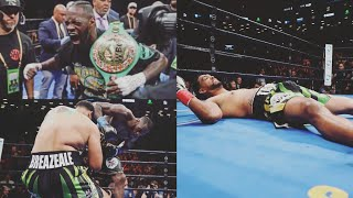 Live Deontay Wilder KO's Dominic Breazeale in 1 RD | Anthony Joshua Don't Want No Smoke!!!