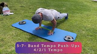 Affect Cause F&L- Tempo Push-Ups, Bands or No Bands. EXTRA CHALLENGES