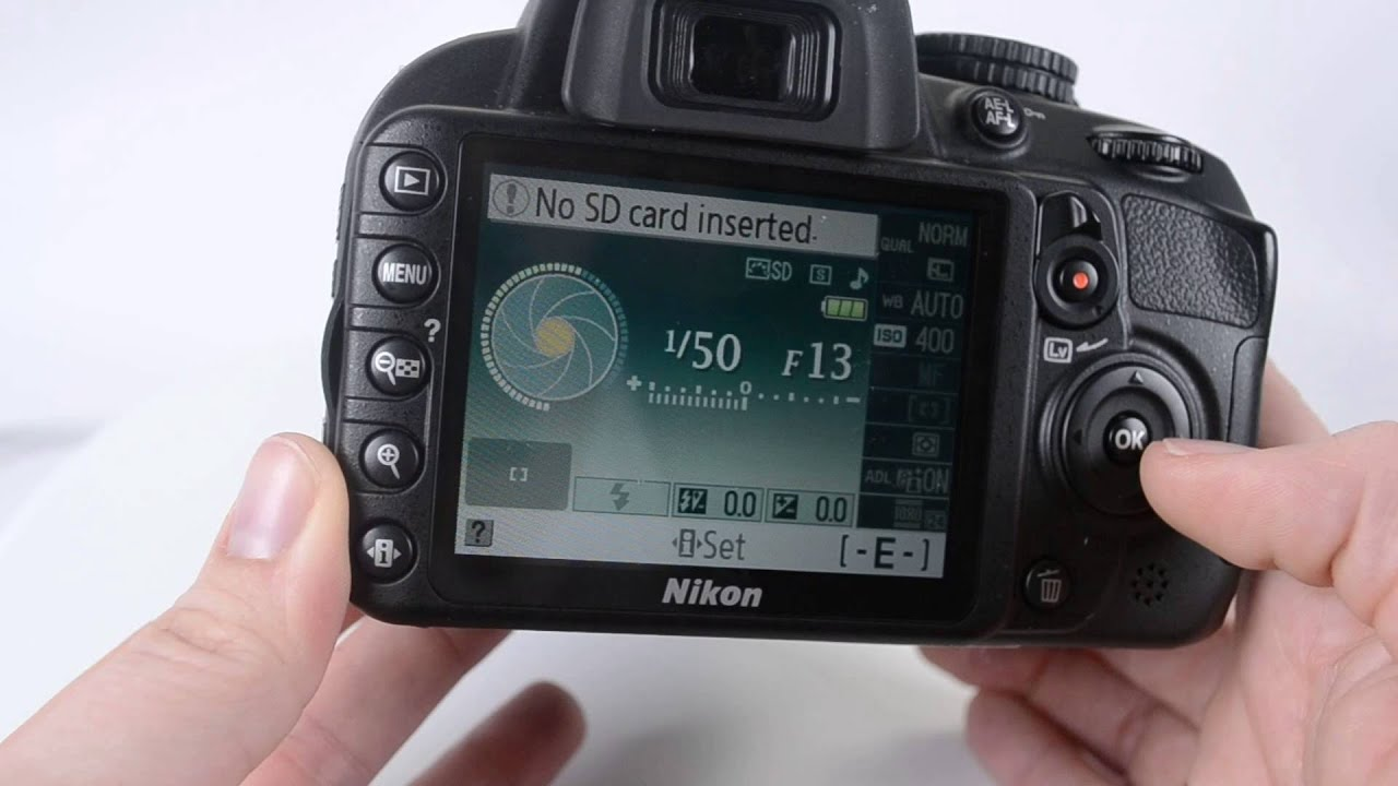 how to set up a nikon d3100 for video youtube rh youtube com Nikon D3000 Manual Nikon D3100 Parts