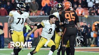 The NFL suspends Myles Garrett, Larry Ogunjobi, and Maurkice Pouncey | The Jim Rome Show
