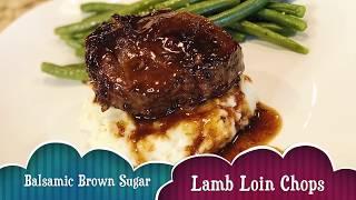 Balsamic Brown Sugar Lamb Loin Chops! I EstherDees Kitchen