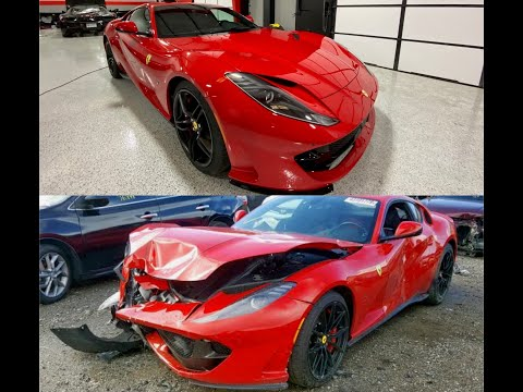 Rebuilding Wrecked Salvage 2019 Ferrari 812 Superfast [Part 3]