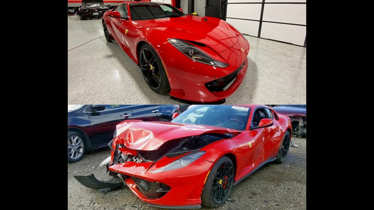 Rebuilding wrecked salvage 2019 Ferrari 812 Superfast [Part 3]