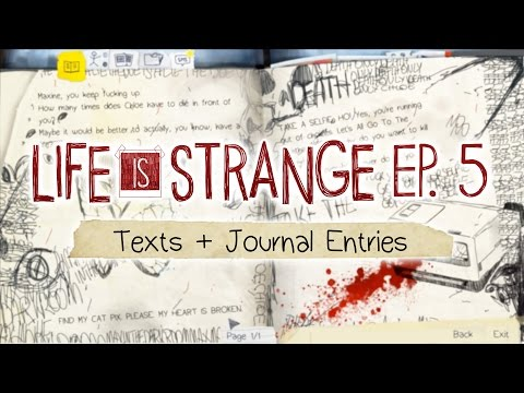 Life is Strange [Episode 5: Polarized] Text Messages + Journal Entries
