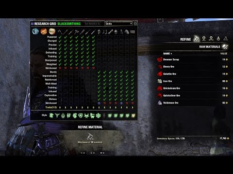 Crafting Research and Traits for The Elder Scrolls Online