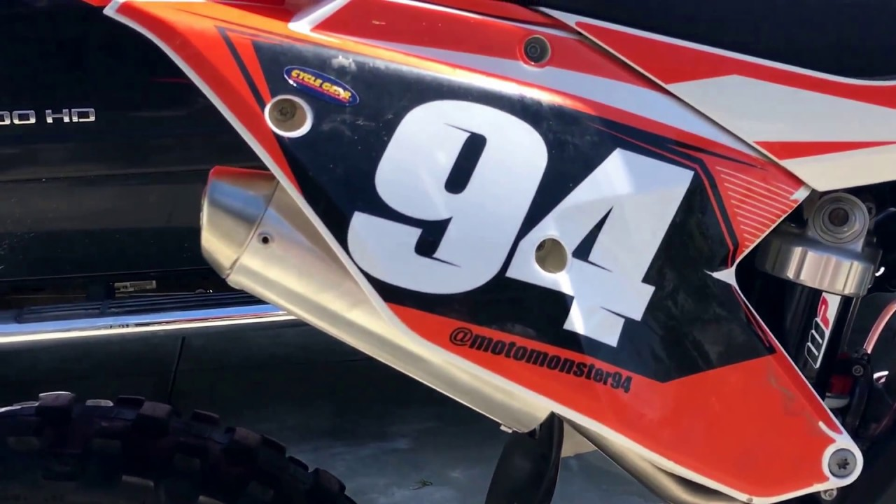 2017 KTM 125 SX with Bill's Pipes