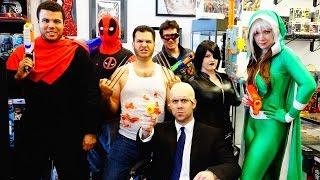 X-Men Nerf War: The Movie! Featuring Logan, Deadpool, Xavier, Cyclops, Rogue, Domino & Bishop
