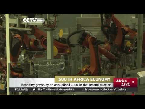South African economy grows by an annualised 3.3% in second quarter