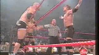 WWE Raw 2003 Goldberg Shawn Michaels & Maven vs Evolution - Español Latino