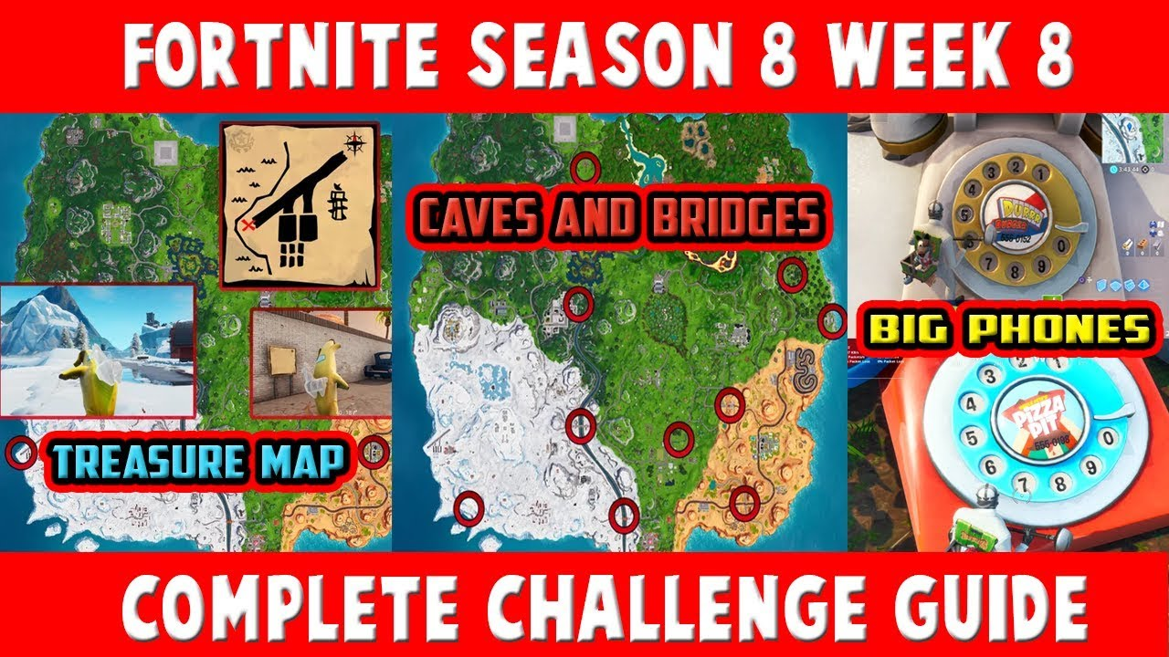 search the treasure map signpost found at paradise palms fortnite season 8 week 8 challenges - where is the treasure map signpost in fortnite battle royale