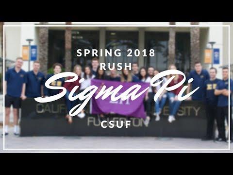 RUSH SIGMA PI SPRING 2018 CSUF