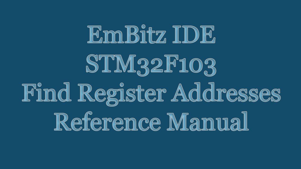 STM32F103 Cortex M3 Assembler - HowTo Find Register Addresses in Reference  Manual