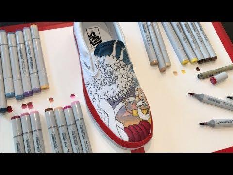 e7f408fbf1685 Rick and Morty - Custom Vans Timelapse - YouTube
