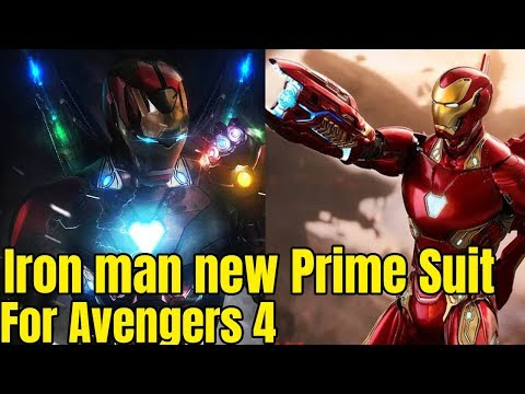 Play Tony Stark Iron man new Model Prime Armour for Avengers 4 after Avengers Infinity war