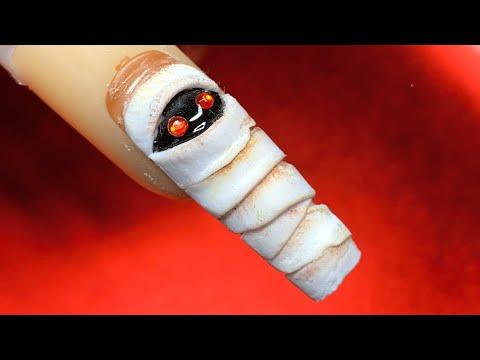 Halloween Mummy | Acrylic Nail Tutorial thumbnail