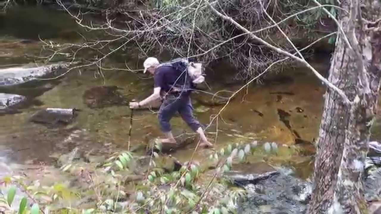 Jim Crosses Flat Creek - YouTube