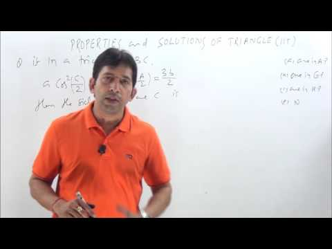 Properties and Solutions of Triangle-1 IIT-JEE previous Year questions solutions