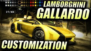 Lamborghini Gallardo - Customization - NFS Most Wanted 2005