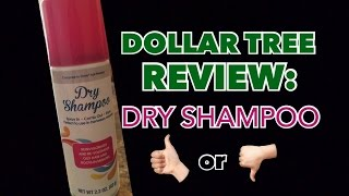 DOLLAR TREE REVIEW: Dry Shampoo | Does It Work?