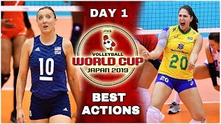 Women's Volleyball World Cup 2019 | Best Actions | Day #1 (HD)