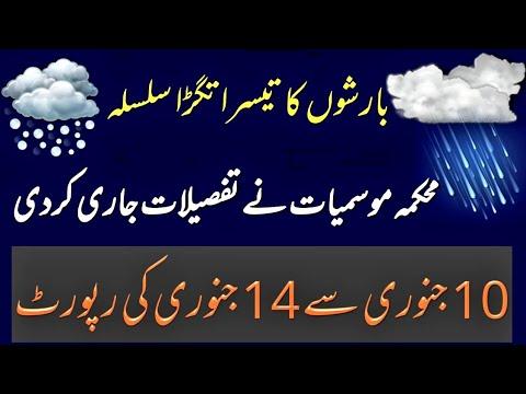Met Office Predicted  10 To14 Jan Weather Report Pakistan Weather Forcast 2020