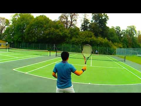 Tennis game with MengYang at Jesus college