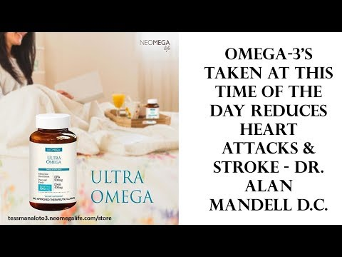 Omega 3's Taken at this Time of the Day Reduces Heart Attacks & Stroke   Dr  Alan Mandell D C 1