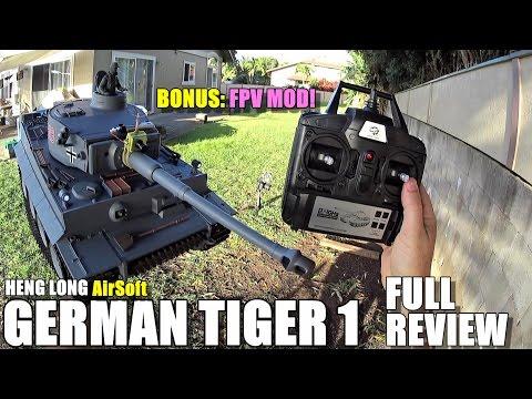 HENG LONG GERMAN TIGER 1 AIRSOFT 1:16 RC Tank - Full Review - [Unbox, Setup, Run Test, Pros & Cons]