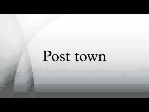 Post town
